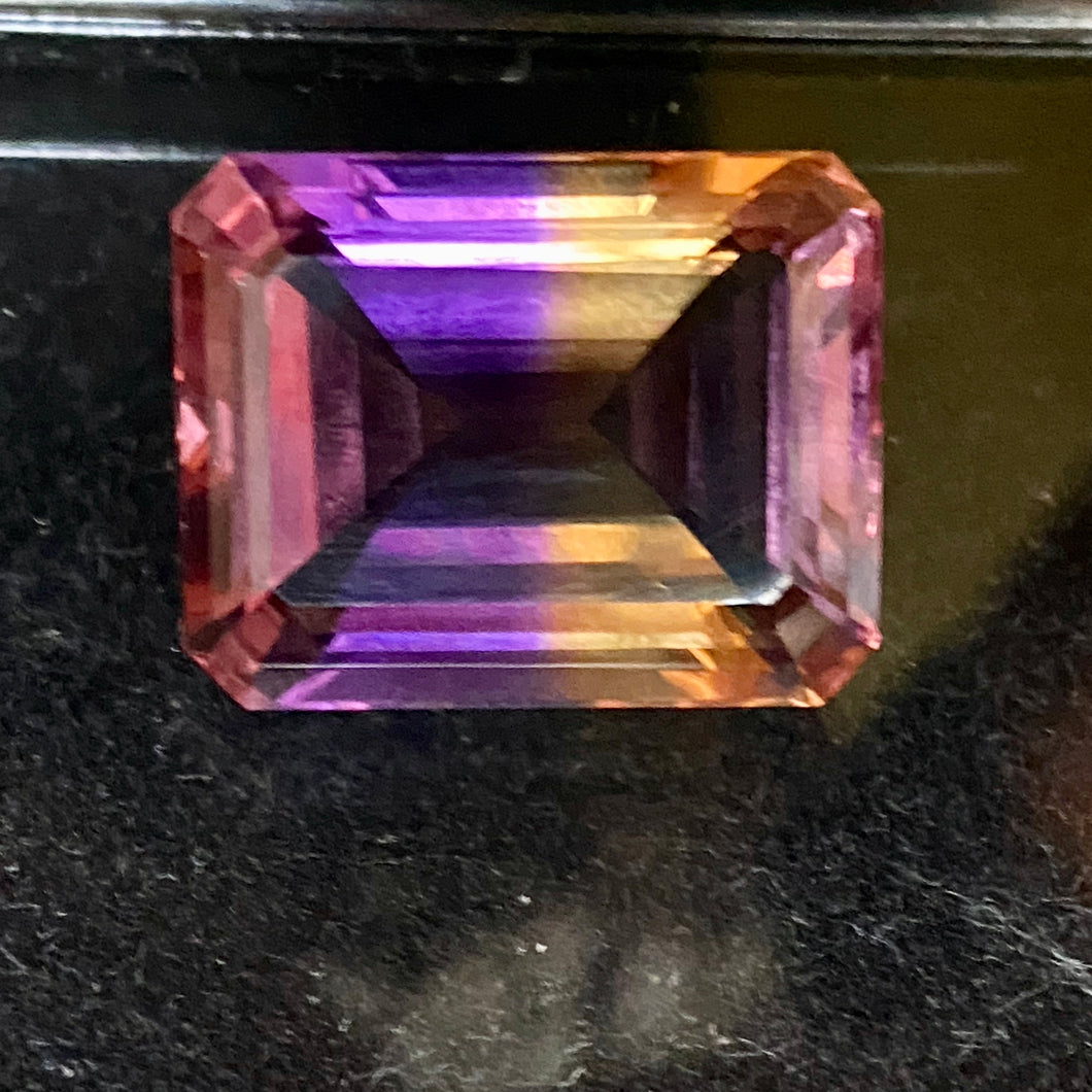 Ametrine 33.97 ct. Rare Tri-Color Display, Flawless, Emerald Cut