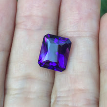 Amethyst, 5.14 ct. Radiant Cut, Deep Purple Perfection, Uruguay, Flawless, No Heat