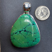 124.15 ct. Turquoise Pendant in Silver, Tibet