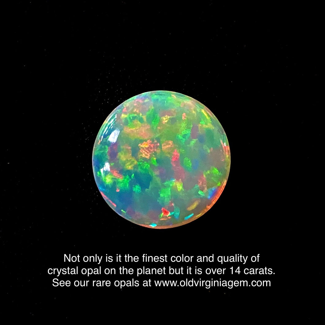 Ethiopian Welo Opal, 14.15 ct. Full Fire, All Colors, 5/5 Rating Top Quality