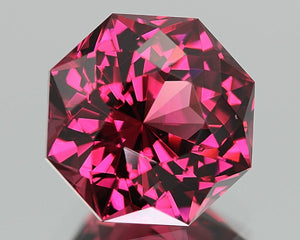 Malaia Garnet, 4.41 ct. True Umbalite, Bubblegum Pink, Color-Shift to Orangish-Pink, Master Cut, Near Flawless, Malaya
