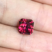 3.82 Malaya Garnet, Color-Shift, Squared Octagon,Modified Step Cut