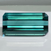 Neon Blue Indicolite Tourmaline, 7.16 ct. Blue, VVS1 Clarity, Afghanistan, Step-Emerald Cut