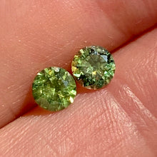 Demantoid Garnets, Matched Pair, Russian, .95tcw