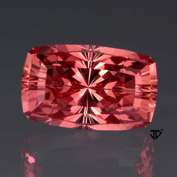 3.94 Imperial Topaz, Cushion Cut by John Dyer, Imperial Pink