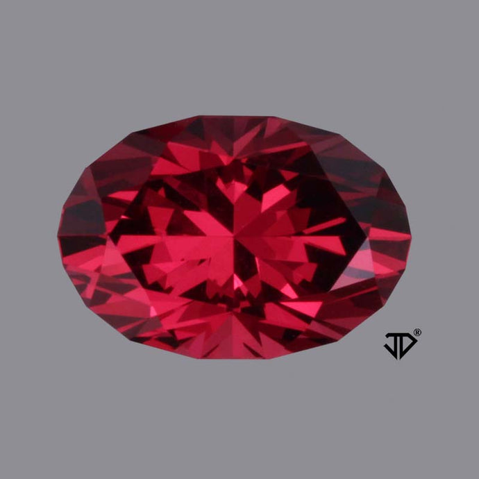 3.97 ct. Rhodolite Garnet, Red-Red, Oval Cut by John Dyer, Malawi