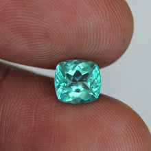 Apatite, 1.46 ct. Paraiba Blue, Cushion Cut, Madagascar