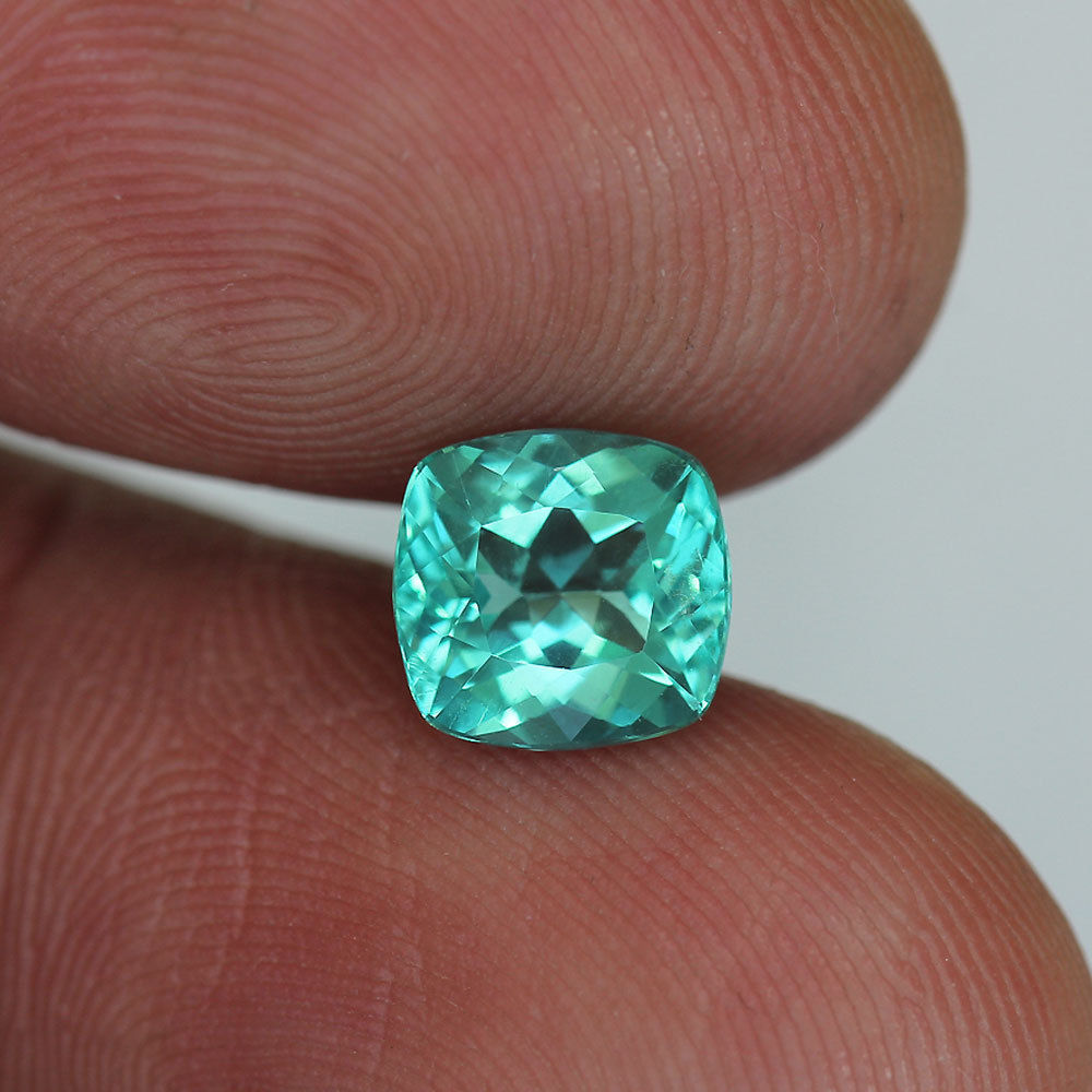 1.46 ct. Apatite, Paraiba Blue, Cushion Cut, VS, Madagascar