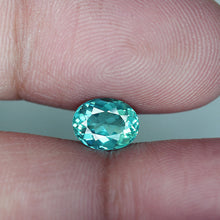 1.39 ct. Apatite, Paraiba Pool Water Blue,  Madagascar, Oval, VS