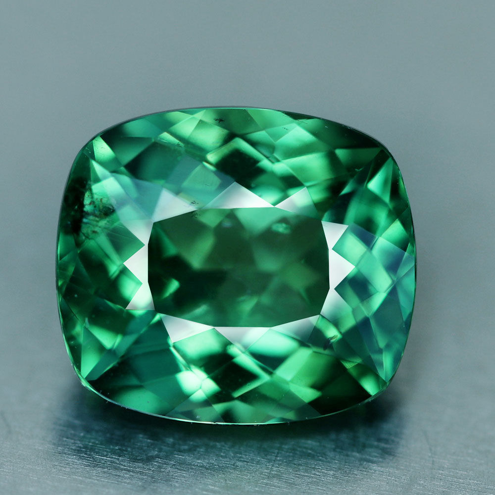 Apatite, 2.08 ct. Neon Green, Madagascar, Cushion Cut