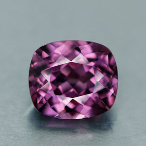Malaia Garnet, 1.30 ct. Vivid Pink, Tanzania, Cushion, VVS, Color Change, Malaya