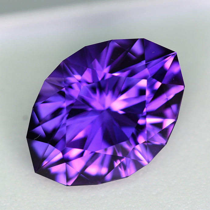 Amethyst, 17.36 ct. Precision Cut, Uruguay, Modified Oval, No Heat, No Treatment