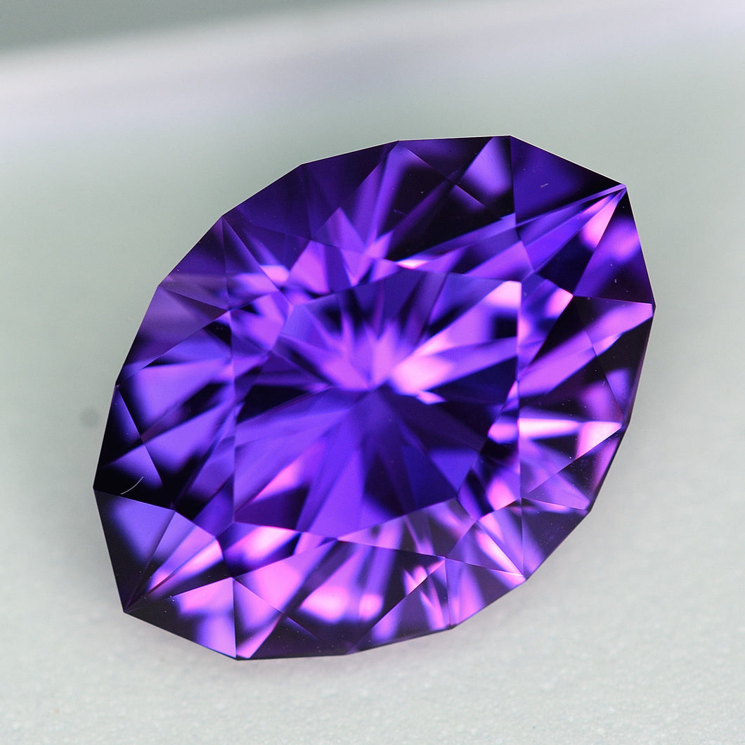 17.36 ct. Amethyst, Precision Cut, Uruguay, Modified Oval, No Heat, No Treatment