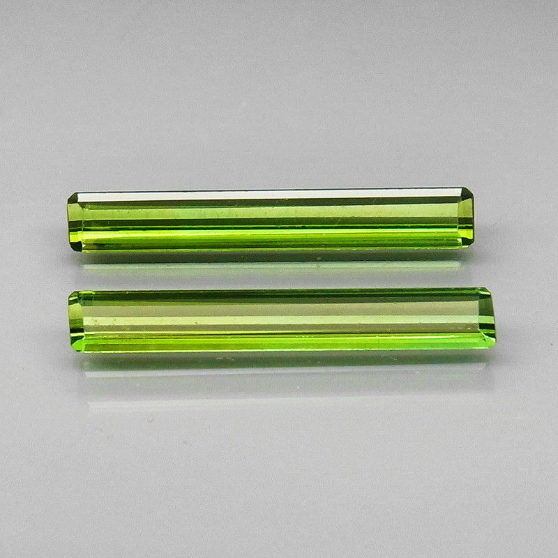 Tourmaline, 2.24 tcw. Green Matched Pair (2), Mozambique