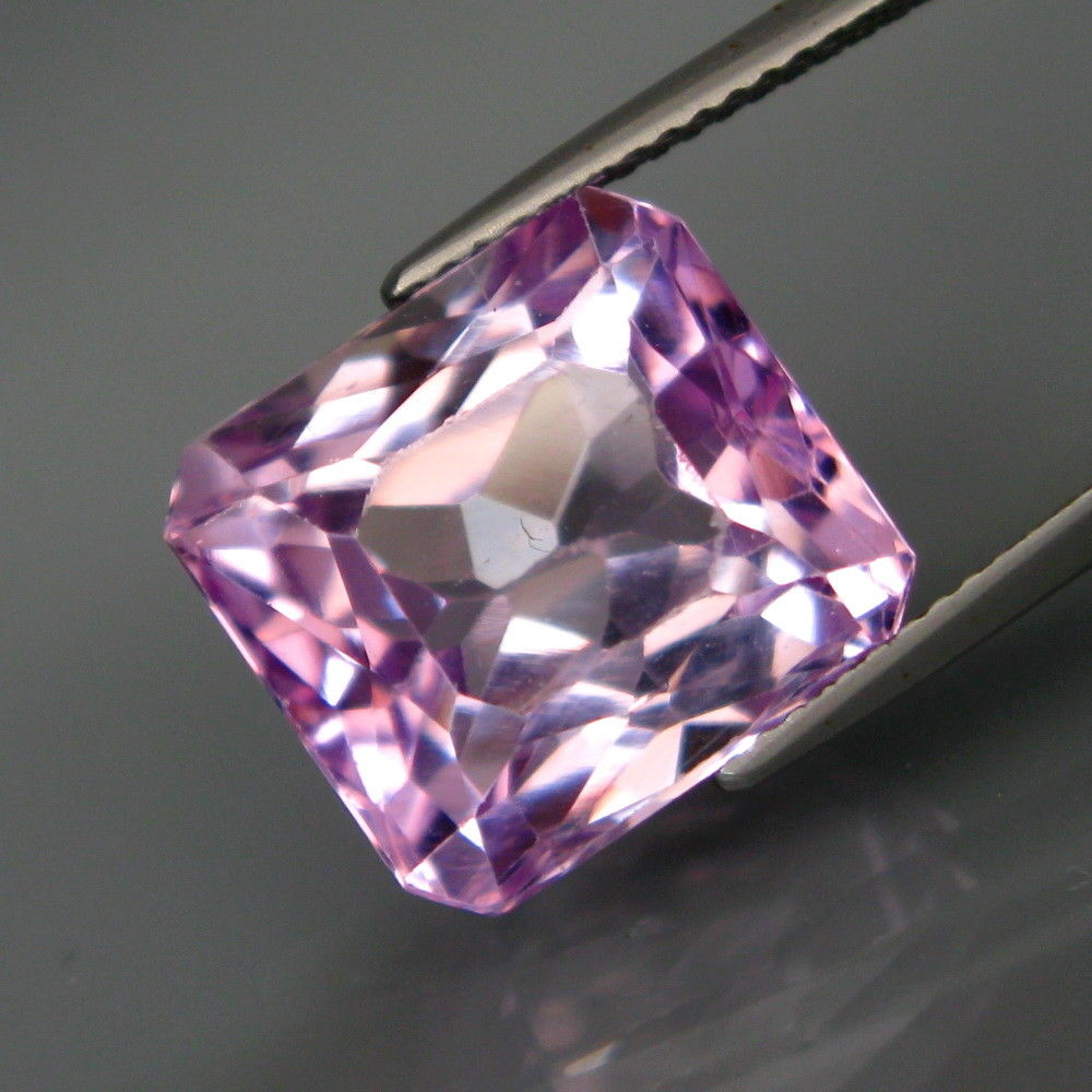 12.88 ct. Kunzite, Pink, Untreated Brazil, Emerald Cut