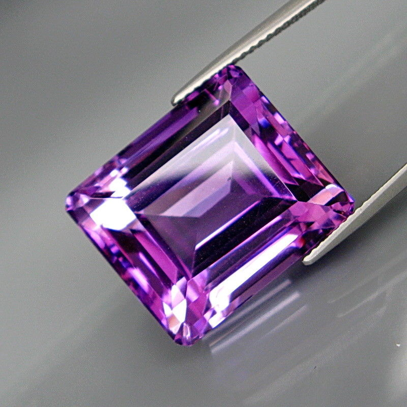 Amethyst, 31.08 ct. Emerald Cut, Very Clean, Bolivia