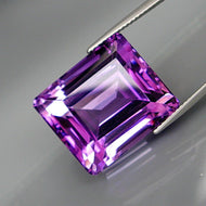 31.08 ct. Amethyst, Emerald Cut, Very Clean, Bolivia