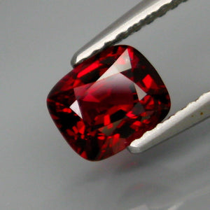 Spinel,1.15 ct. Deep Red, Cushion Cut