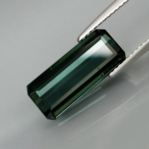 4.70 ct. Indicolite Blue Tourmaline, Emerald Cut, Mozambique, VS
