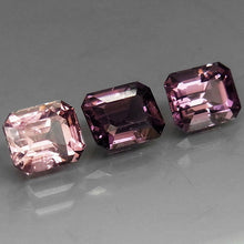 Spinels, 3.03 tcw. Set of (3) Purple-Pink Tone, Gorgeous Set