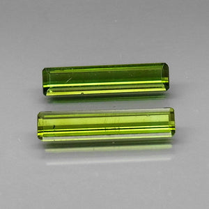 Tourmaline, 1.71 tcw. (2) Green, Emerald Cut, Mozambique