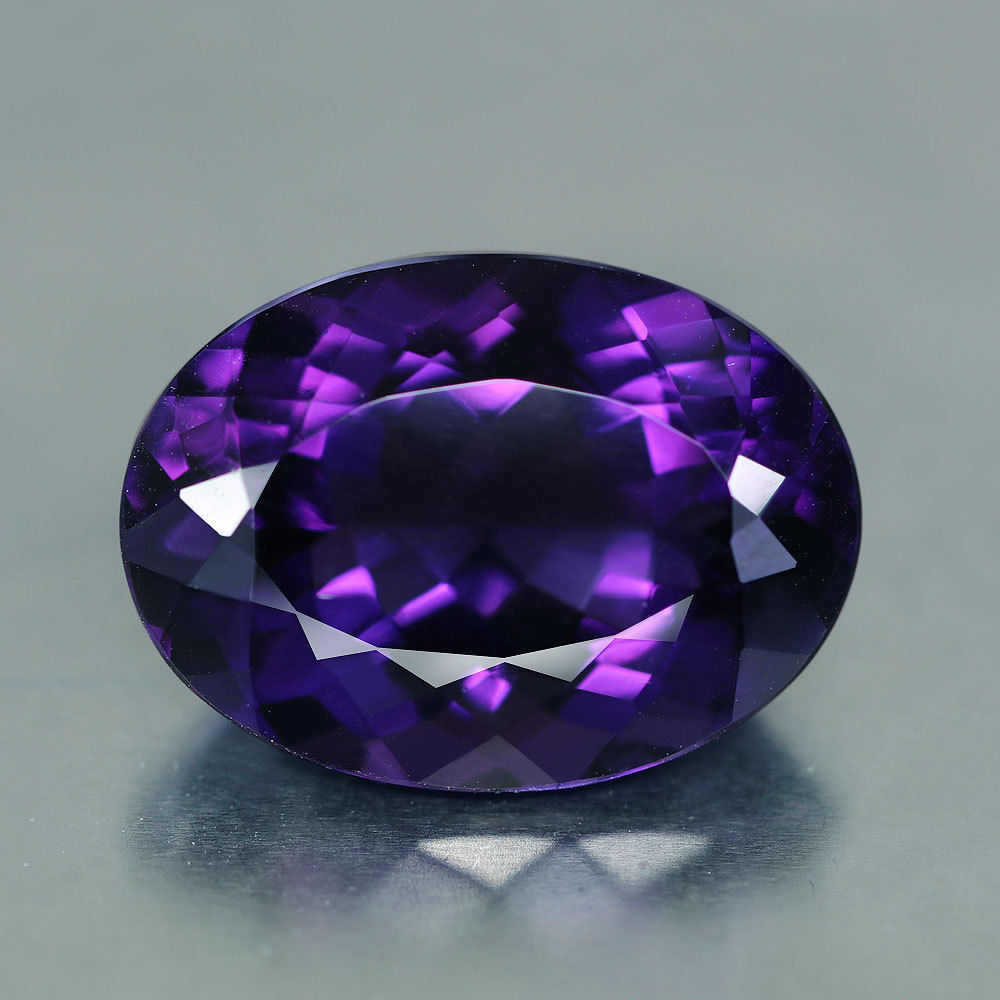 18.48 Flawless, Bolivian Amethyst, Vintage, Oval, Deep Purple, Violet/Blue Flashes