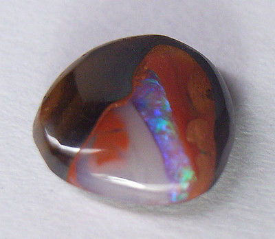 Koroit Australian Boulder Opal, 1.56 ct. Rare PURPLE/BLUE/GREEN Colored Vein