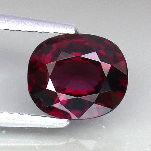 1.64 ct. Cherry Red Spinel, Namya, Cushion, Almost Flawless