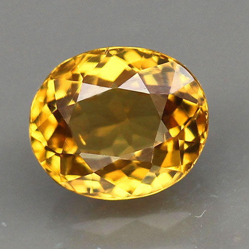 1.29 ct. Grossular (Mali) Garnet, Yellow, Oval, VVS, Mali, West Africa