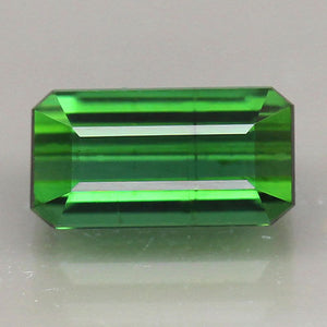 1.46 ct. Green Tourmaline, Octagon, SI-I1, Mozambique, Africa