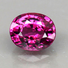 1.22 Pinkish-Purple Rhodolite Garnet, Oval, VS, Malawi, Africa