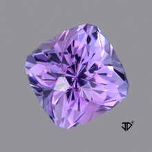3.18 Bluish Violet Tanzanite, Cushion Cut, Cut by John Dyer
