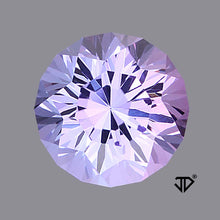 3.81 ct. Bluish Violet Tanzanite, Round, Cut by John Dyer