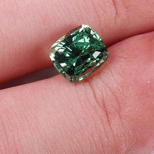 3.19 ct. Tsavorite Garnet, Cushion Flat Faceted, Tanzania, No Treatment
