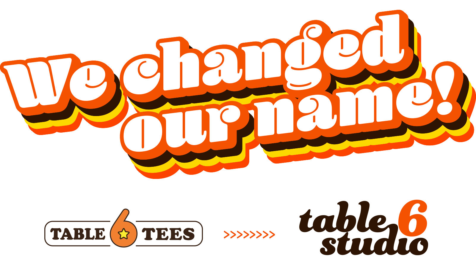 Table 6 Tees is now Table 6 Studio on Etsy