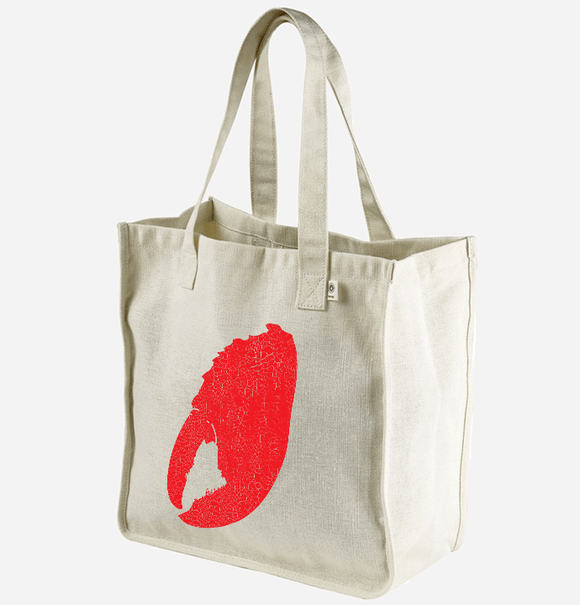 Maine Lobster Claw Hemp Market Tote - Limited Stock