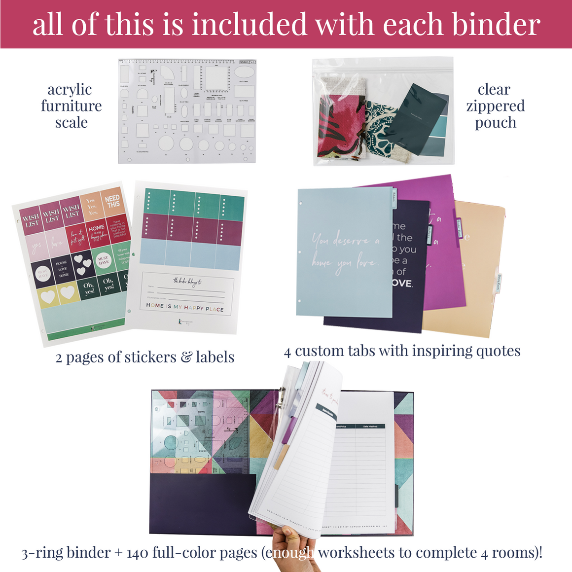 Designer in a Binder Printed Binder Add-On (3rd Edition)