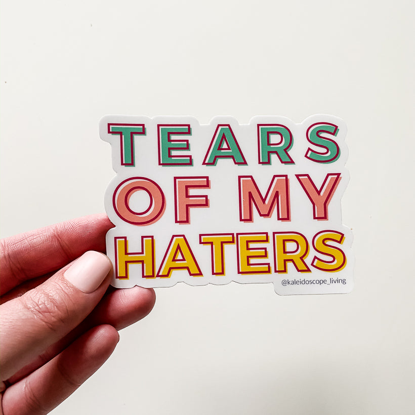 Tears of My Haters Block Font Sticker