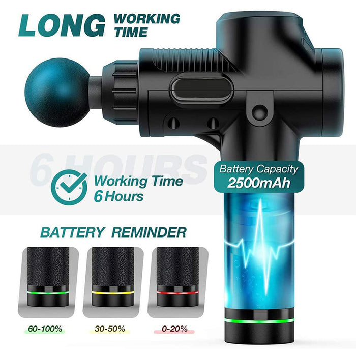 Massage Gun EM005 4000 RPM with 10 Head Attachments