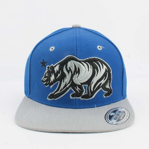 Big Bear Hat Blue and Grey