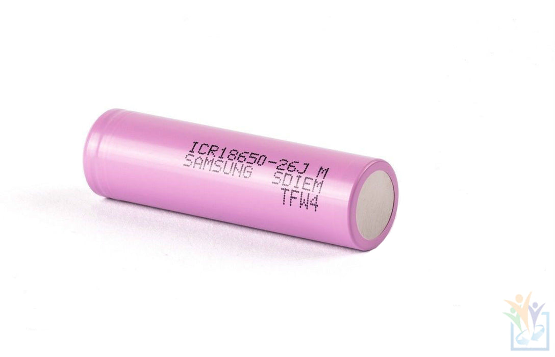 Samsung 18650 ICR 26J 2600mAh Li-Ion 3.7V Flat Top Battery