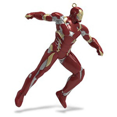 Hallmark 2016 Team Iron Man Marvel Civil War Christmas Ornament