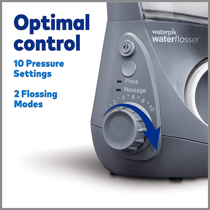 Aquarius Waterpik Water Flosser with 7 Tips WP-667 - Gray