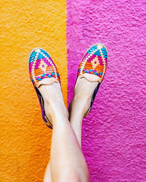 Mexican leather huaraches Antonieta