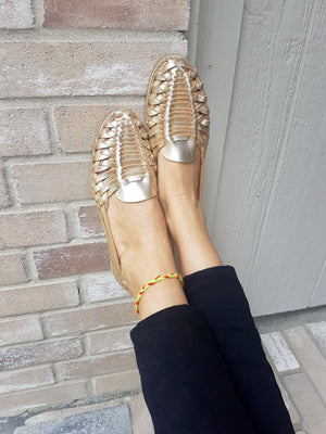 Mexican leather huaraches Golden Land