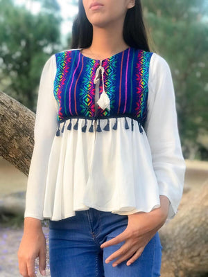 'Amor Eterno'  Mexican Blouse