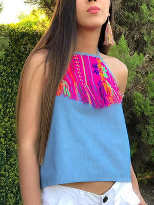 'Maria'  Sleeveless Mexican Blouse