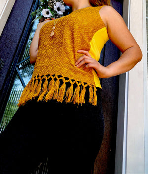 'Esperanza' Loom Woven Mexican Blouse, Sleeveless Tank