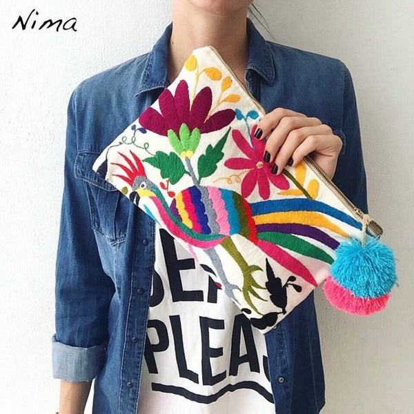 Nima Otomi Hand Embroidered Clutch