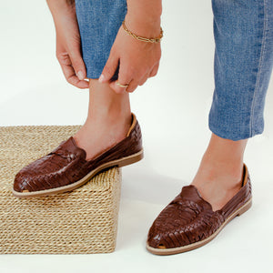 Mexican leather huaraches Essential Brown